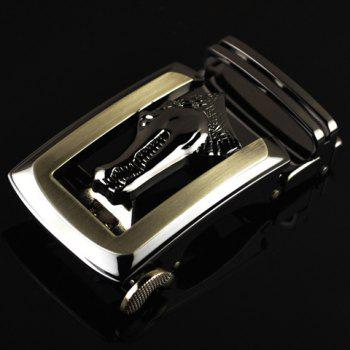 Stylish Alligator Head Shape Embellished Hollow Out Men's Automatic Buckle - AS THE PICTURE AS THE PICTURE