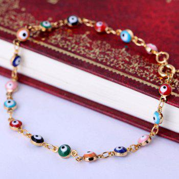 Chic Faux Eyes Beads Bracelet For Women - COLORFUL