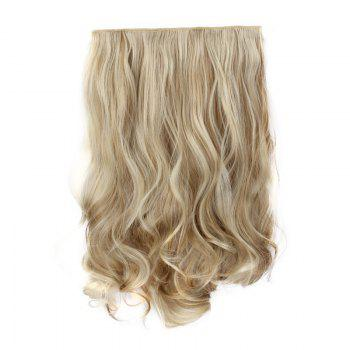 Fashion Long Synthetic Charming Shaggy Wavy Clip-In Assorted Color Women's Hair Extension - KHAKI F613/16# KHAKI F /