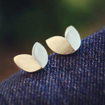Pair of Matte Leaf Shape Earrings