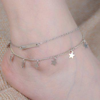 Star Shaped Layered Charm Anklet