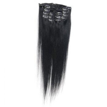 Fashion Long Human Hair Straight Capless Elegant Clip In Women's Hair Extension