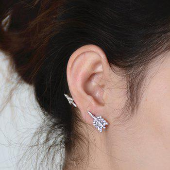 ONE PIECE Rhinestoned Arrow Shape Earring