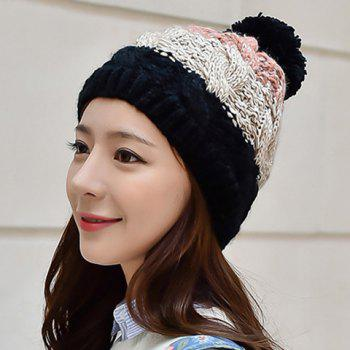 Chic Mixed Color Thicken Knitted Beanie For Women
