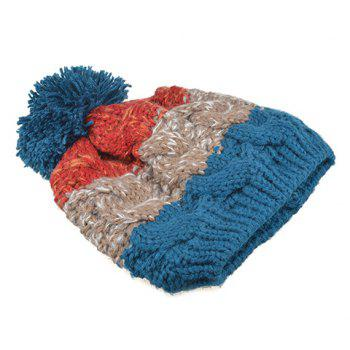 Chic Mixed Color Thicken Knitted Beanie For Women -  RANDOM COLOR