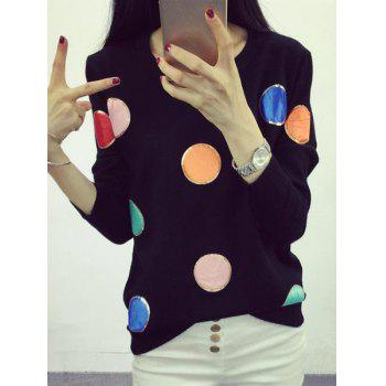 Chic Long Sleeve Round Neck Sequined Women's Sweater