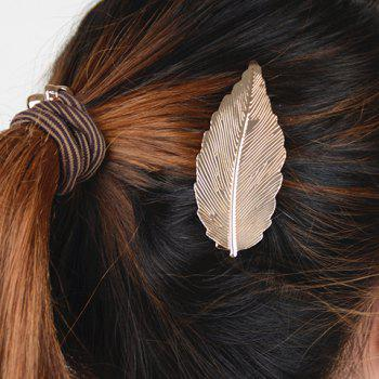 Stylish Pure Color Leaf Shape Hairgrip For Women