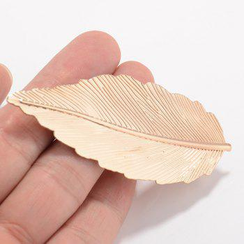 Stylish Pure Color Leaf Shape Hairgrip For Women -  GOLDEN