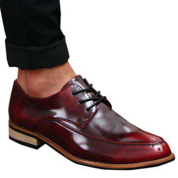 Vintage Lace-Up and Solid Color Design Formal Shoes For Men