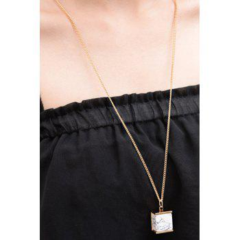 Stunning Rammel Geometric Shape Sweater Chain For Women - GOLDEN GOLDEN