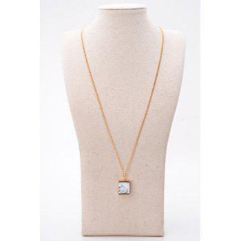 Stunning Rammel Geometric Shape Sweater Chain For Women -  GOLDEN