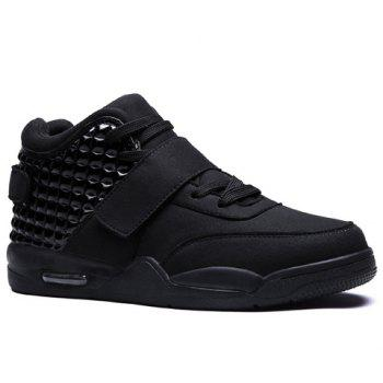 Hook and Loop High Top Sneakers
