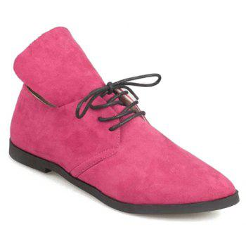 Trendy Suede and Pure Color Design Flat Shoes For Women