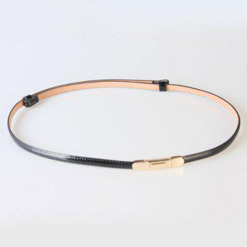 Chic Candy Color Adjustable Women's Slender PU Belt