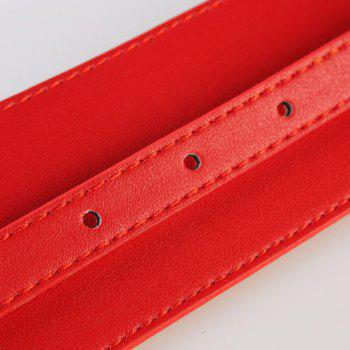 Chic Pin Buckle Simple Women's Wide PU Waistband - RED