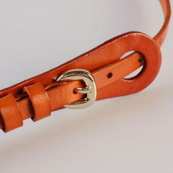Chic Pin Buckle Candy Color Women's Slender Belt - PINK