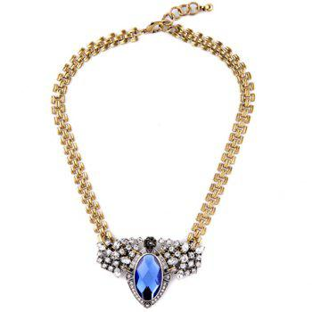 Trendy Rhinestoned Faux Crystal Geometric Necklace For Women
