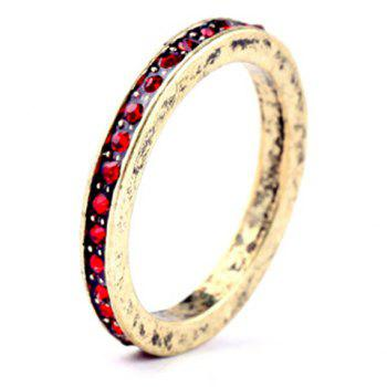 Stylish Faux Crystal Round Ring For Women