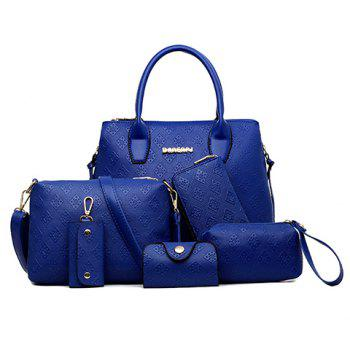 Graceful Pure Color and Embossing Design Tote Bag For Women