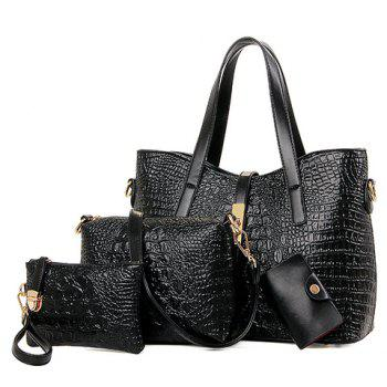 Stylish Crocodile Print and Embossing Design Tote Bag For Women
