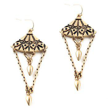Pair of Chic Fan Shape Hollow Out Layered Geometric Earrings For Women