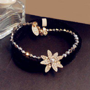Stylish Rhinestone Sunflower Shape Elastic Hair Band For Women
