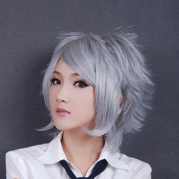 Towheaded Oblique Bang Anti Alice Hair Heat Resistant Synthetic Cosplay Wig