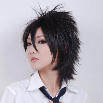 Handsome Towheaded Short Side Bang Heat Resistant Fiber Anti Alice Hair Cosplay Wig