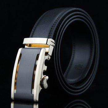 Stylish Hollow Out Metal Auto Buckle Men's Wide Belt