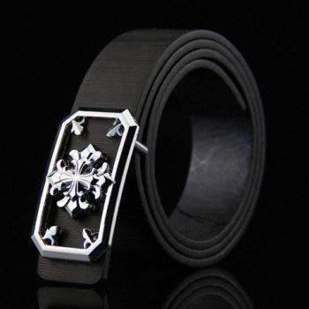 Stylish Hollow Out and Retro Cross Shape Embellished Men's Wide Belt