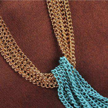 Multilayered Link Chain Sweater Chain - COLORMIX
