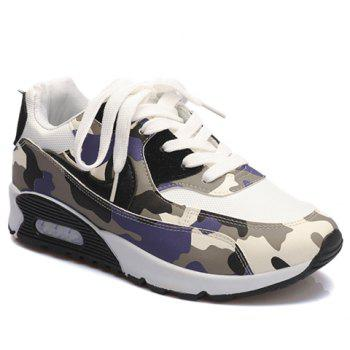 Fashionable Camouflage and Splicing Design Sneakers For Women