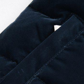 Stand Collar Solid Color Applique Slimming Long Sleeve Men's Cotton-Padded Jacket - CADETBLUE L