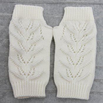 Pair of Chic Hollow Out Crochet Women's Knitted Fingerless Gloves