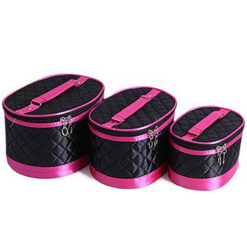 Stylish Candy Color and Checked Design Cosmetic Bags For Women