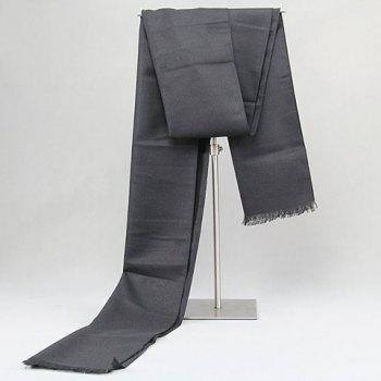 Stylish Fringed Edge Black Grey Men's Warmth Scarf