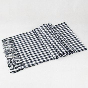 Stylish Simple Tartan Pattern Tassel Men's Scarf