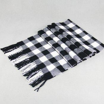 Stylish Classical Tartan Pattern Tassel Men's Scarf