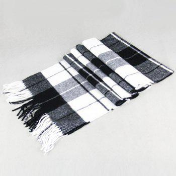 Stylish Plaid Pattern Tassel Men's Scarf
