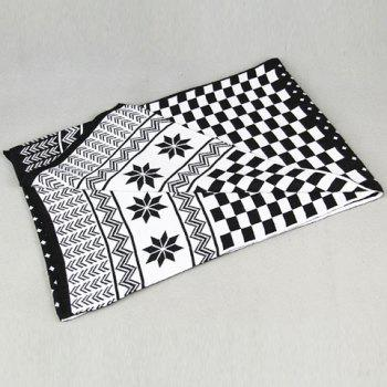 Stylish Checked and Christmas Snowflake Pattern Scarf For Men -  BLACK