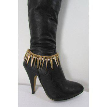 Chic Rhinestone Triangle Women's Boot Jewelry - GOLDEN GOLDEN
