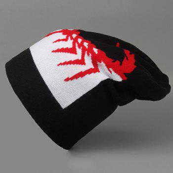 Stylish Handpainted Scorpion Pattern Men's Knitted Beanie