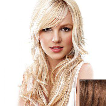 Shaggy Wavy Charming Inclined Bang Capless Graceful Long Women's Human Hair Wig