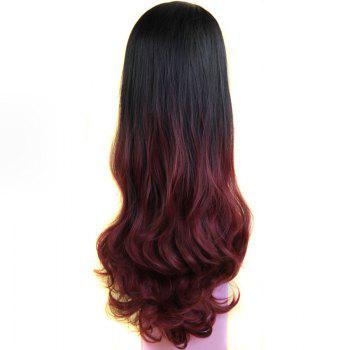 Ladylike Long Capless Fluffy Wave Synthetic Assorted Color Women's Half Wig