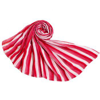Chic Vertical Stripe Pattern Bright Color Women's Voile Scarf