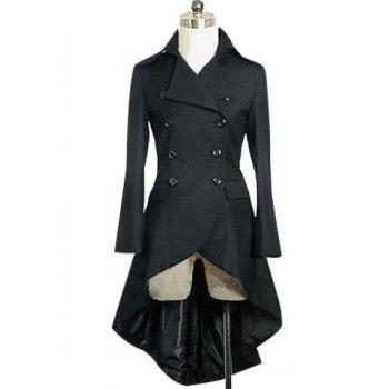 Stylish Long Sleeve Turn-Down Collar Asymmetrical Women's Gothic Aristocrat Coat