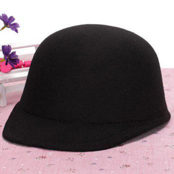 Chic Candy Color Women's Felt Horseman Hat - BLACK BLACK