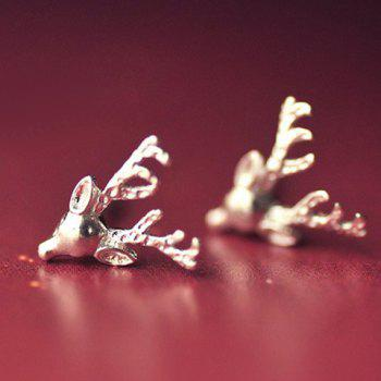 Pair of Delicate Solid Color Elk Head Shape Earrings For Women