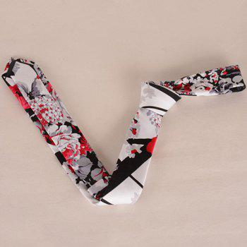 Stylish Flower and Leaf Ink Pattern 6CM Width Men's Tie - GRAY