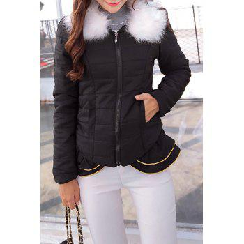 Sweet Turn-Down Collar Flounced Long Sleeve Coat For Women